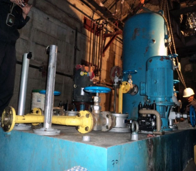 Installation of Hydraulic oil equipment of Governor