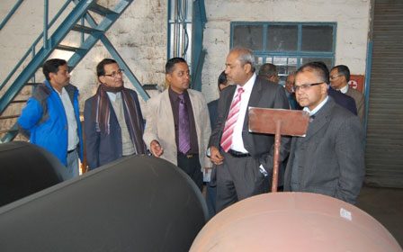 Penstock Pipe Shells: Visit by the Client Butwal Power Company the then CEO Mr Ranjan Lohar and Officials
