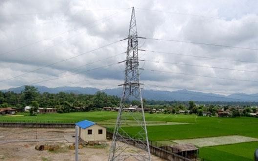 132 kV Outgoing Transmission Line Tower