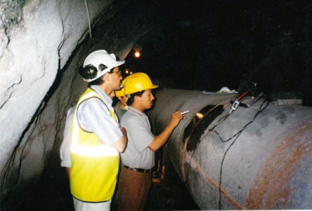 Penstock Pipes under NDT after installation