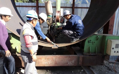 Manufacturing of Penstock Pipes at Balanch Site, 3,500 mm dia