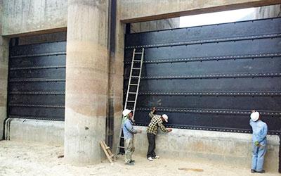 Installation of Stop Log Gates