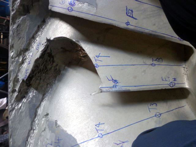 Marking of Worn-out Blades for Repairing