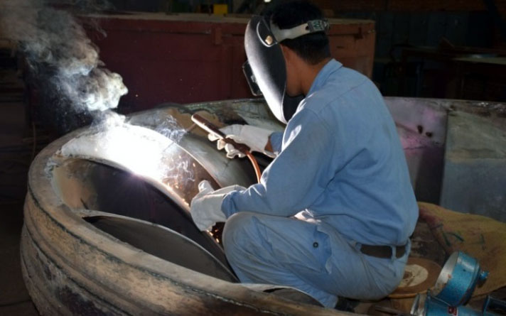 Welding on Runner Blades